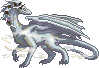 Christmas Gray Wispy Dragon