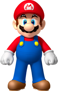 Mario but eyelashes and M is white