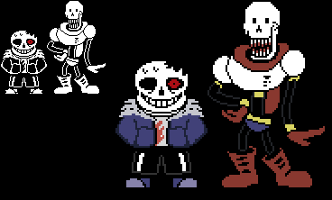 Horrortale Sans and Papyrus