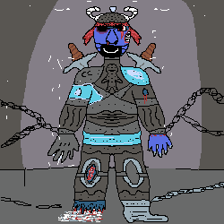 Ice age Knight trapped