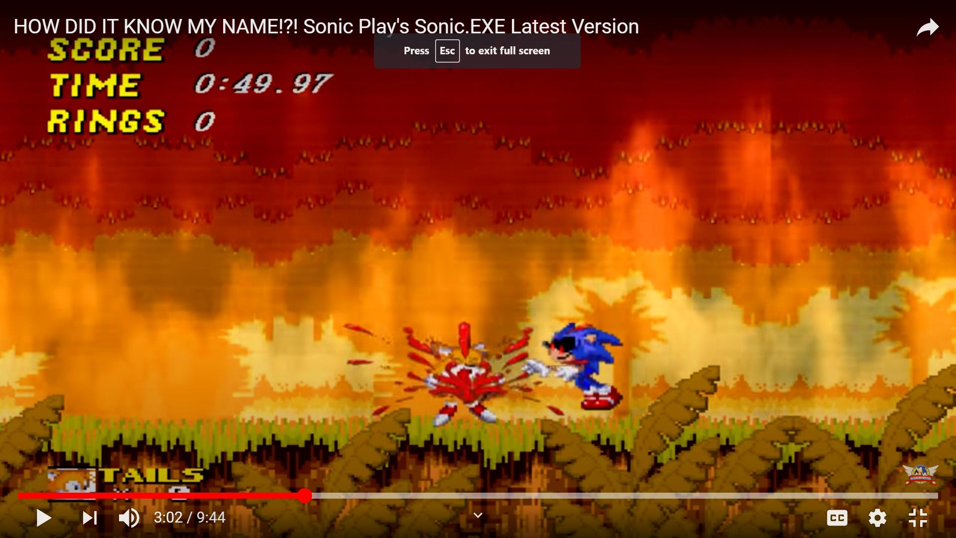 Sonic.exe (SONIC PLAYS)