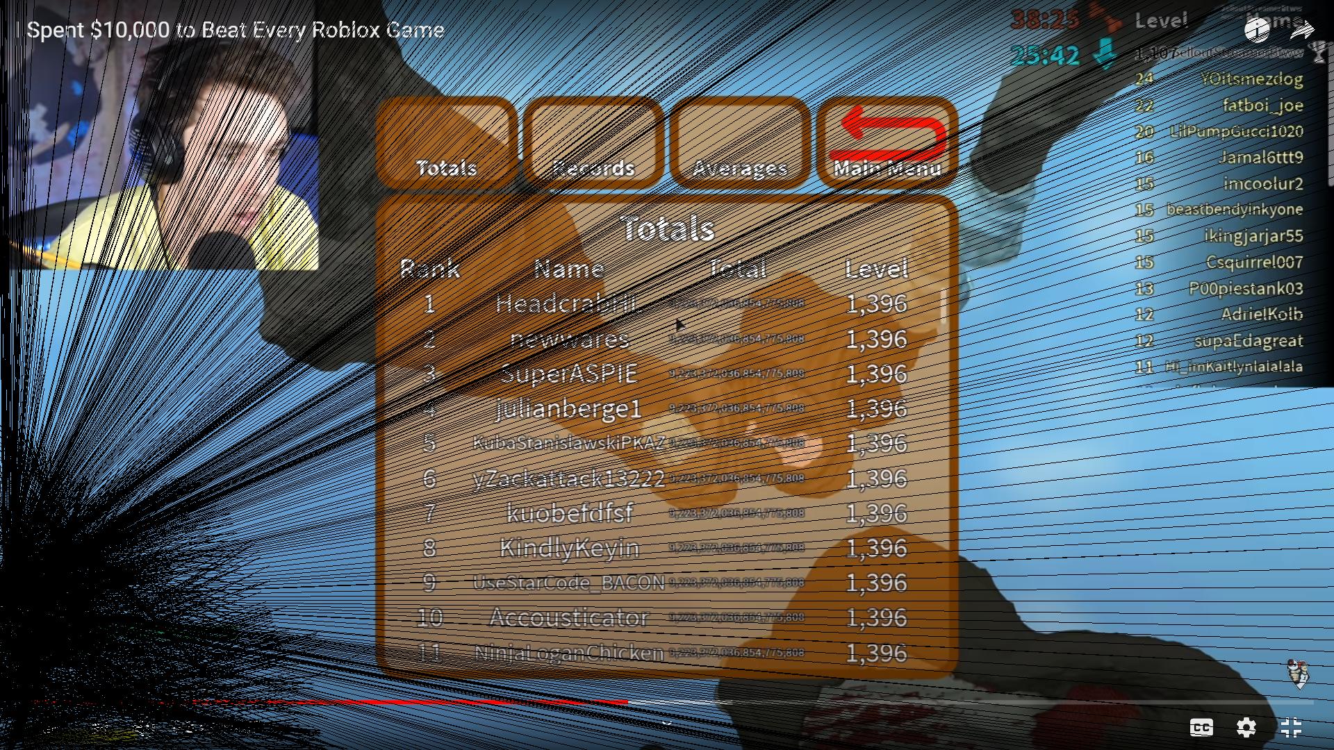 LAZERBEAM PLAYS ROBLOX (sry the cam is broken)