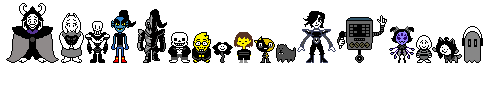 All Undertale Characters but Dark